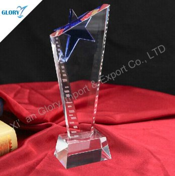 China Pentagon Music Most Popular Star Crystal Trophy