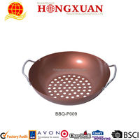 Chicken BBQ grill pan / non-stick cooking grate / BBQ Grill pan / roster pan