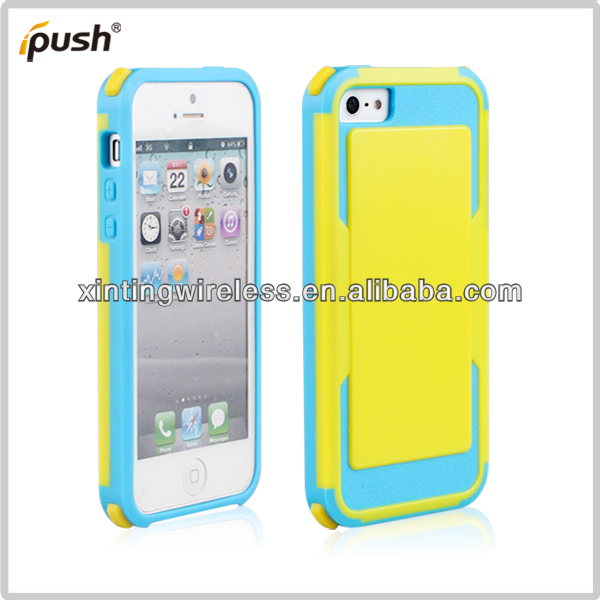 Bright-coloured Mobile Phone Case/Phone Shell For Iphone 5/5s PC+TPU Protective Cover