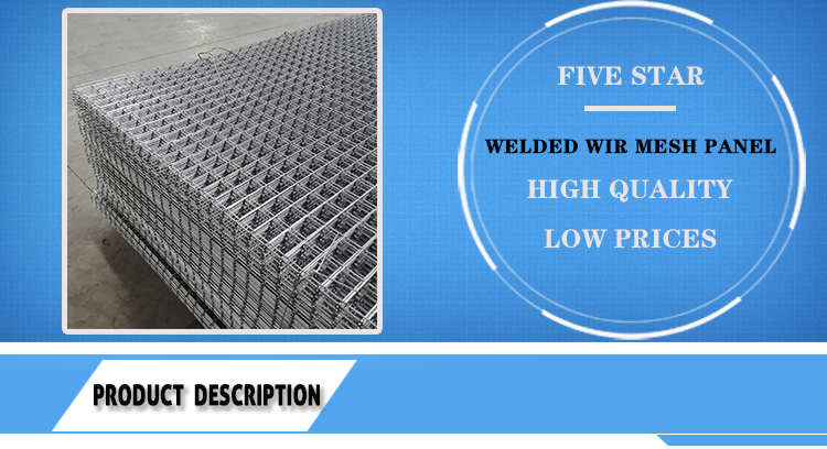 Low price 4x4 2x2 galvanized welded wire mesh for fence panel in 6 gauge