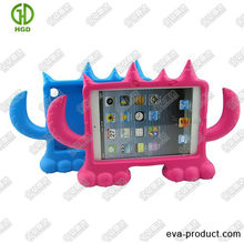 free-standing mini monster shockproof EVA for mini ipad cover case with strong handles