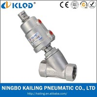 "3/4 inch right angle valve, thread connection, stainless steel actuator, piston type, KLJZF-3/4""-SS"