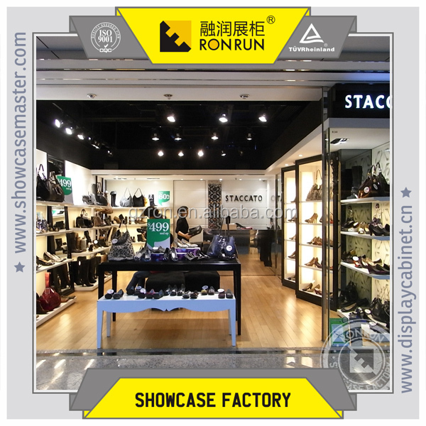 2017 Fashionable customized acrylic shoe display showcase clothing retail store furniture