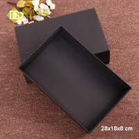 YIWU DECENT 400gsm Cardboard Black Paper Top and Bottom Foldable Gift Boxes Wholesale