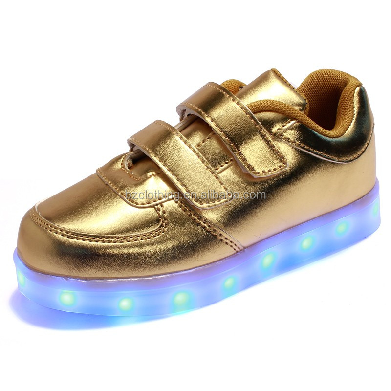 2016 USB Charging Children Led shoes hot boys,girls lighted shoes sports PU Leather kids Led shoes fashion sneakers