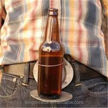 Holds A Bottle Or Can Hands Free Fashion Beer Belt Buckle With Beer Or Can Holder