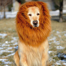 Pet Fancy Dress Up Costume Cat Halloween Clothes Lion Mane Wig for Large Dogs
