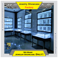 Custom jewelry showcase funiture design , jewelry shop interior decoration