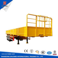 Hot-selling tir-axles CNG transport truck cargo semi trailer