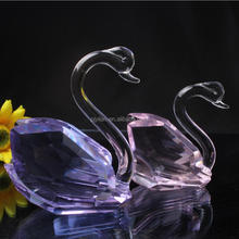 blue ornament decorative souvenirs crystal swans