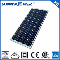 Hot sale europe standard SunnyPower 115w blue cheap solar panel for sale
