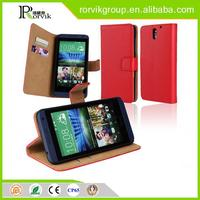 wholesale good quality book style pu leather mobile phone case for htc D610