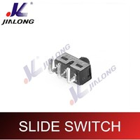 SPDT 3 Pins/Positions/way Micro Slide switch with Solder Terminals Stainless Steel Housing for home appliances