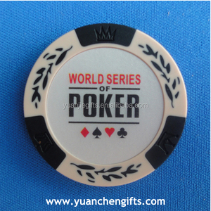 Different colors custom printed cheap poker chip