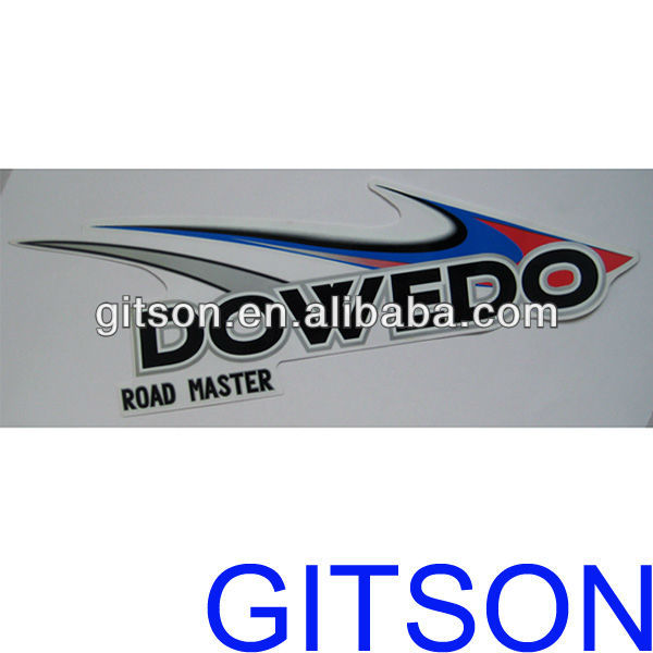Custom Motorcycle Stickers and Decals Transparent pvc material