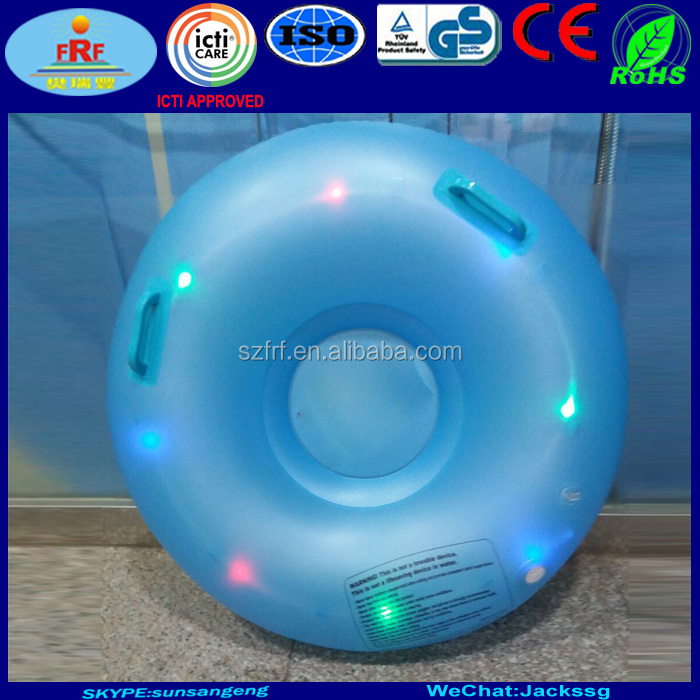 LED Inflatable Sled Snow tube For Kids Skiing