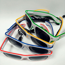 Promotion Sale Multi Color El Glasses Christmas Funny Party Supply El Wire Sunglasses