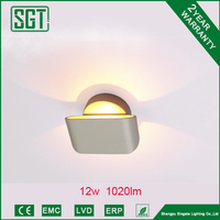 12w 1020lm indoor Acrylic wall light fixtures