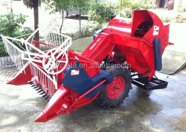 Small combine Rice cutting machine wheel rice harvesting machine