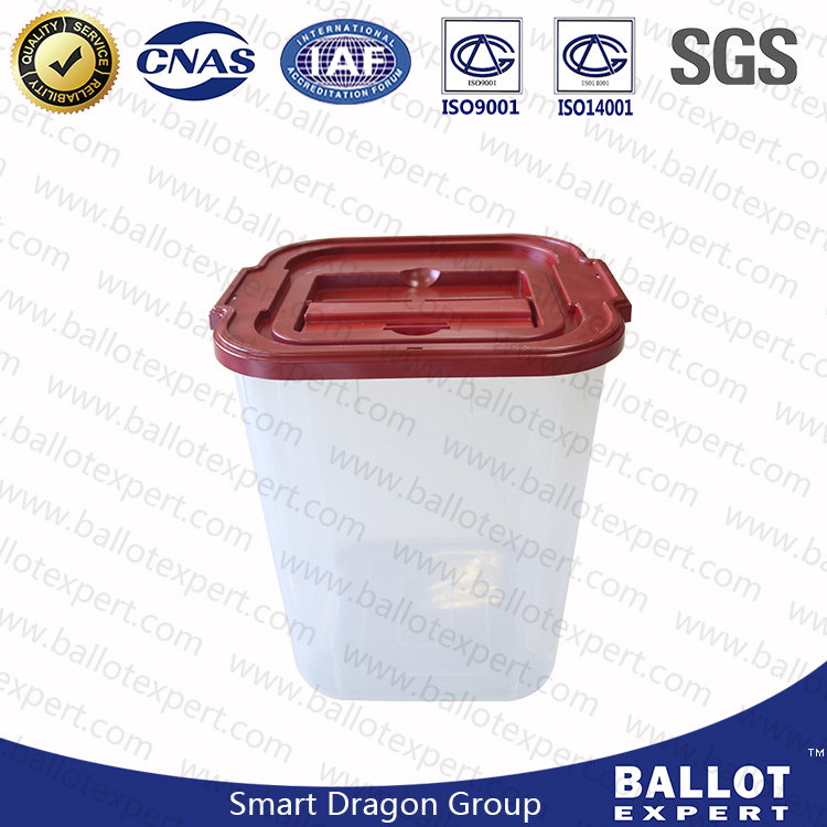 Factory Coin Donation Box Large Capacity Ballot Boxes Turnover Safe case Plastic Clear Container