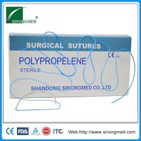 Disposable nonabsorbable suture polypropylene surgical suture manufacture with curved needle