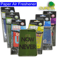 factory price scented paper air freshener for car essential aroma oil diffuser