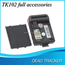 gps tracker tk102 with sos button for car and person with online gps tracking software