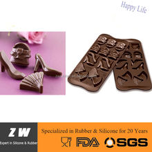 ZW Silicone high-heel shoe bag fan Shapes chocolate mould