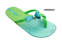 New product Factory Direct sales flip flop Bright Light Green girl flip flop,woman flip flop