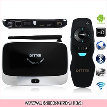 T27 Quad Core RK3188 1.4GHz-1.6GHz Android 4.2 DDR3 2G 8GB Android TV Box with BluetoothAir Fly Mouse