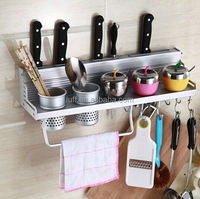 Kitchen shelf rack wall shelf with 2 cups 40cm Storage Rack sauce bottle Spice Tool Holder for kitchen Seasoning Sooktops shelf
