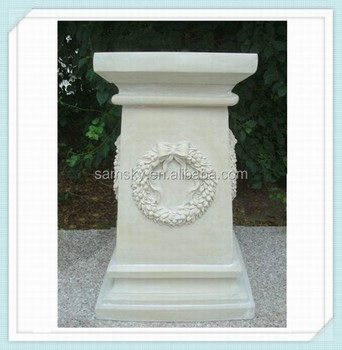 White Square Wedding Decorative Pillars And Columns Buy