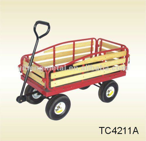 Gardening Wagon Utility Beach Nursery Lawn Cart TC4211A
