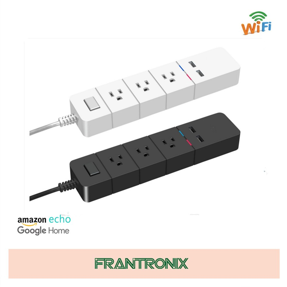 Smart Wifi Power Strip US Standard 3 Outlet 2 USB Port Remote Control