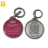 Pet Collars Leashes Type and ID Tags Collar Type Promotion Custom Metal Dog Tags