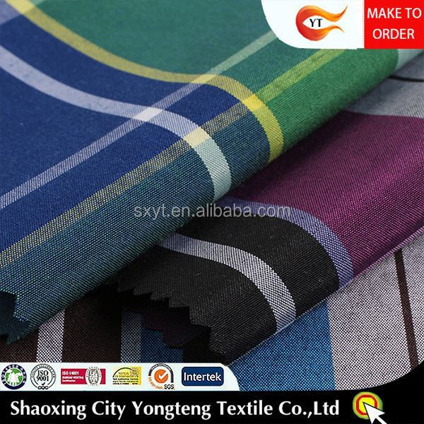 textile yarn dye jacquard fabric polyester cotton fabric for shirt