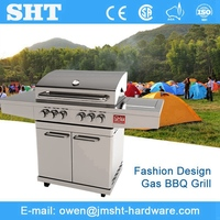 SGS Approved Gas Barbeque Stainless Steel Grill Machine
