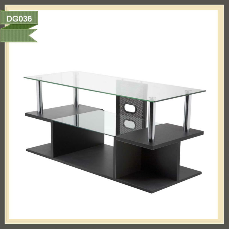 Cheap glass tv stand domino tables for sale mission furniture DG036