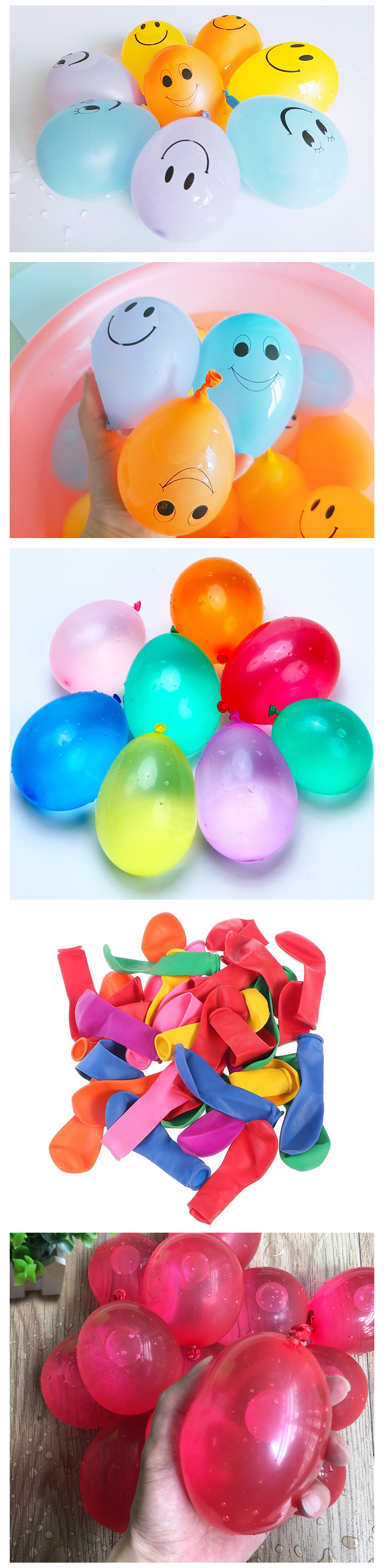 High quality self sealing 111pcs 3 bunch funny water balloon for kids game