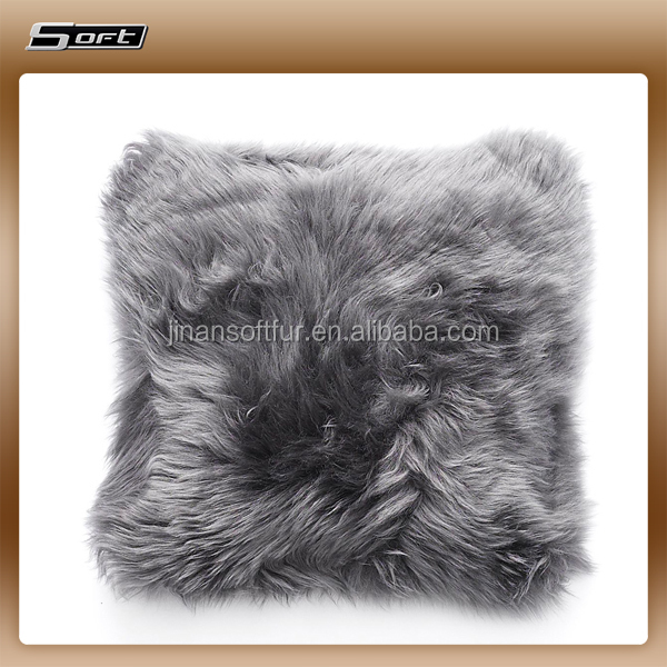 Normal Latest Household Design New Zealand Sheepskin Cushion Cover