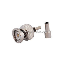 Free samples Factory price bnc male crimp connector for rg316 rg179 cable