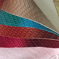 1.3mm Woven Backing Technics Embossed PU leather for making handbags,bags faux leather, tote bags synthetic leather