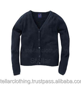 V-NECK WOMEN'S PLAIN CARDIGAN