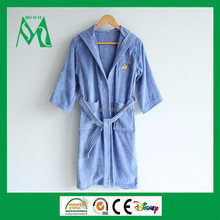 Customized soft cotton kids terry cloth bathrobe for home