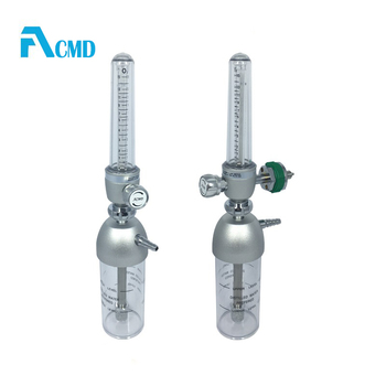 "Aluminum Oxygen Flow Meter with Standard 1/8"" FNPT Connection (0-1.5LPM ) For Neonatology"