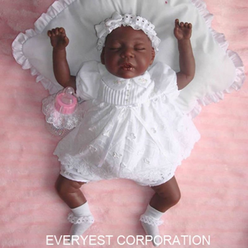trending hot products black reborn dolls for sale/2016 newest 22 inch soft vinyl reborn baby doll kits/make reborn dolls