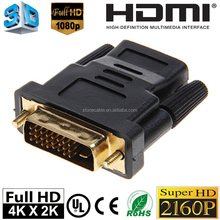 HDMI Female to DVI 24+1pin Male Connecter