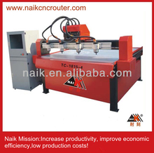Four head high efficiency wood cnc router/engraver/cutter