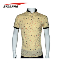 Multicolor 95% Polyester 5% Spandex Sublimated Polo Colar T Shirts