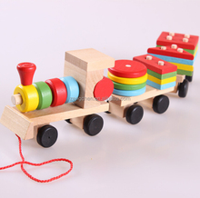 Colorful Mini Toy Train Montessori Materials In China Wood Train Toy For Kids New Wood Toy